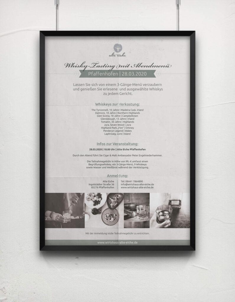 Alte-Eiche-Whisky-Tasting-Plakat