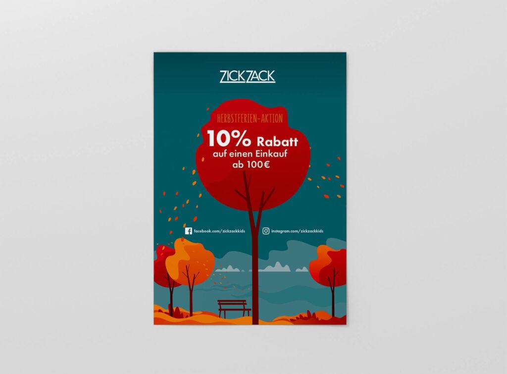 ZickZack-Herbst-Plakat