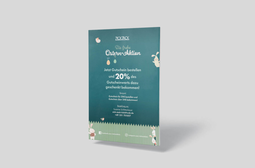 ZickZack-Ostern-Plakat