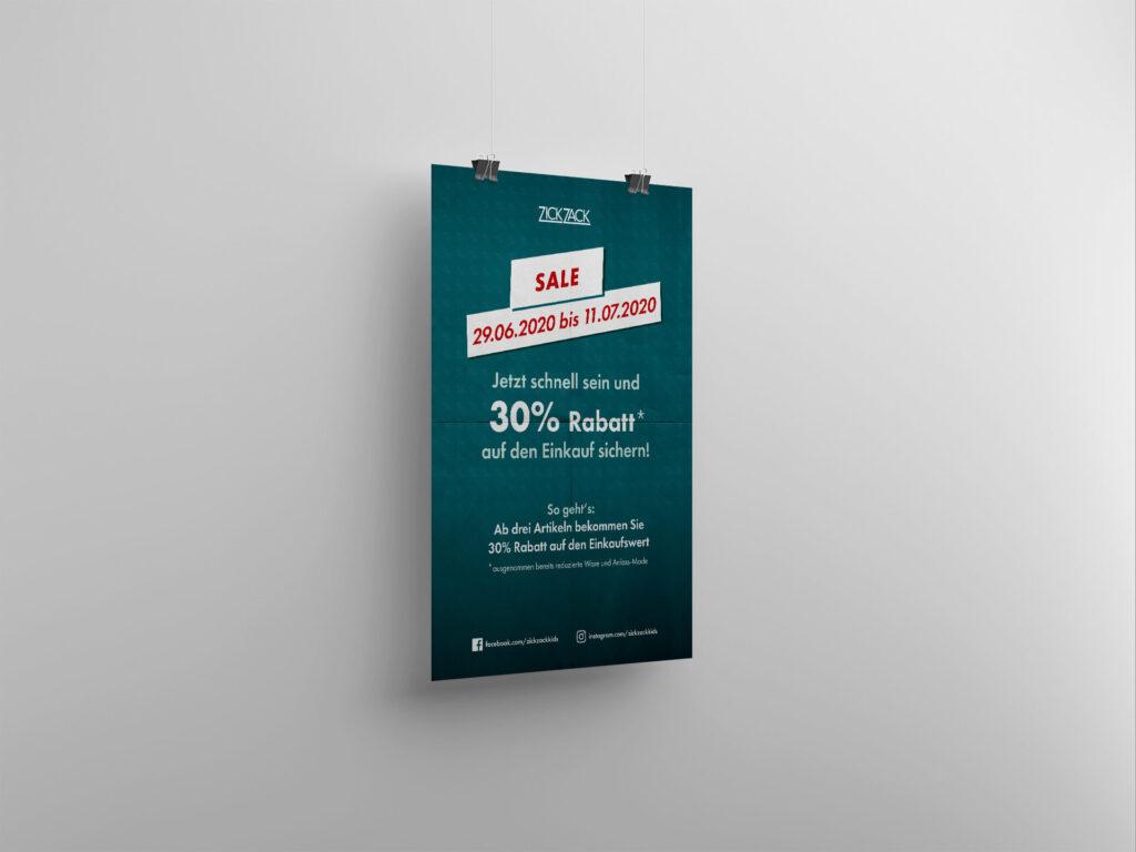 ZickZack-Sale-Plakat